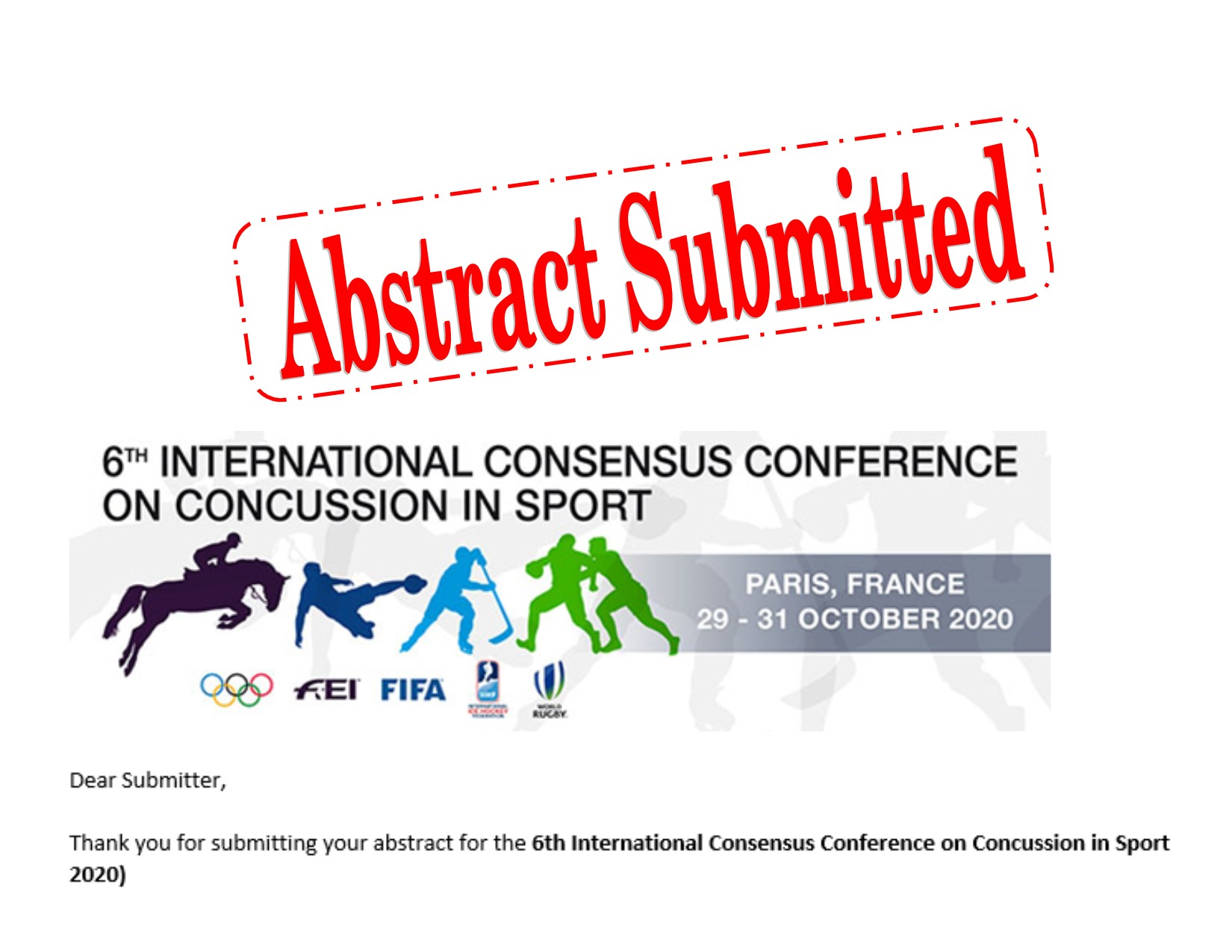 2020 International Concussion Conference Abstract submitted